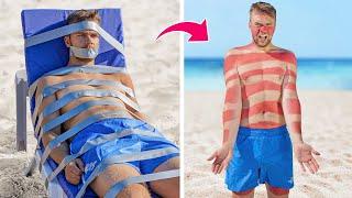 11 Funny Summer Pranks! / Beach Prank Wars!