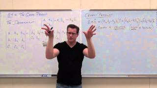 Calculus 3 Lecture 11.4: The Cross Product: Finding the Cross Product of two vectors with Determinants, Using the Cross Product to find Mutually Orthogonal V...