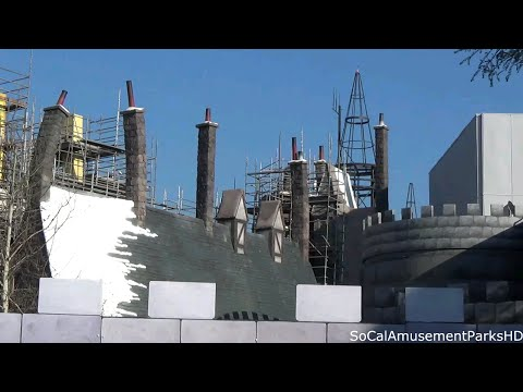 Wizarding World of Harry Potter Construction Update #5 2015 Universal Studios Hollywood HD