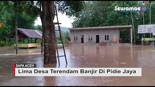 VIDEO - Lima Desa Tergenang Banjir Di Pidie Jaya