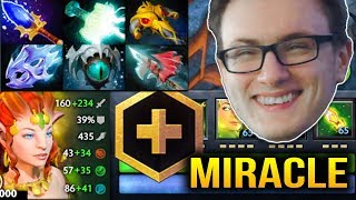 Miracle Disgusting CRAZY Enchantress Offlane Gameplay Dota 2 7.11