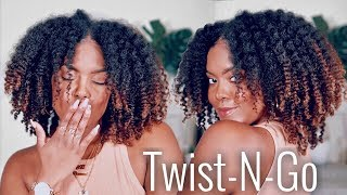 Twist & Go | Quick Dry Twistout on Natural Hair