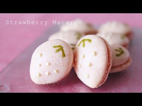 【春のスイーツ】いちごマカロンの作り方 ~ Strawberry Macaron【料理レシピはParty Kitchen🎉】