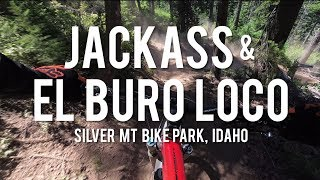 Silver Mountain Bike Park - Jackass, El Buro Loco and Chair 3 trails.