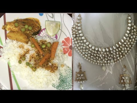 Vlogs : Jewellery Haul + Bengali Fish Curry Recipe