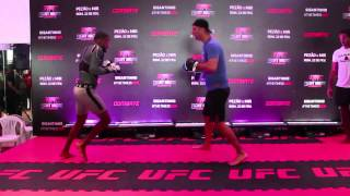 Edson Barboza, Michael Johnson face off at UFC Fight Night 61 workouts