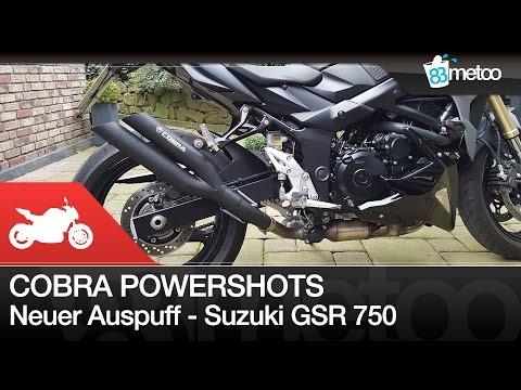 Cobra Powershots Auspuff an Suzuki GSR 750 | Cobra Powershots Exhaust Sound
