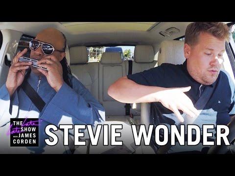 Karaoke spolujízda se Steviem Wonderem