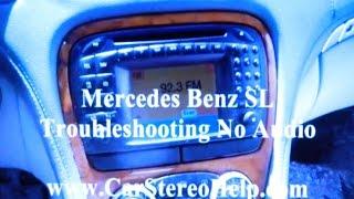 How to Mercedes Benz SL NO AUDIO Troubleshooter no sound