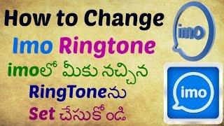 How Set Your favourite  Ringtone On imo ! Telugu