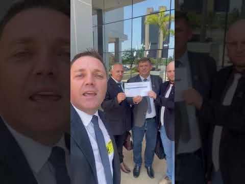 Comitiva três-cantense em Brasília a conquista de verbas para a EMEI Rainha