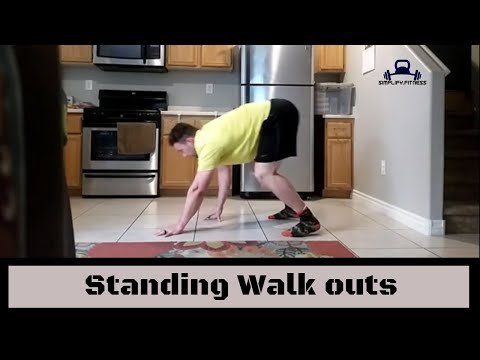 Standing walkout to plank