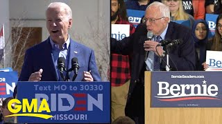 The Democratic presidential race comes down to Joe Biden and Bernie Sanders   GMA