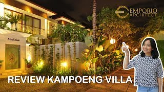 Video Hasil Konstruksi Kampoeng Villas Style Villa Bali 2 Lantai di  Kerobokan, Bali