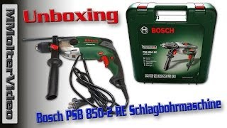 "Bosch PSB 850-2 RE Schlagbohrmaschine ""Expert"" Unboxing."