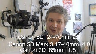 Zhiyun Crane 2 Фокусировка Canon Mark 3, Canon 6D Canon 7D