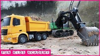 Construction Trucks for Children with CAT trucks and JCB Excavator | Excavator videos for kids