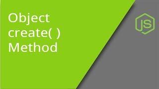 JavaScript Object create method