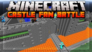 Minecraft CASTLE FAN BATTLE w/ Landon, Preston, Rob, & Vurb!