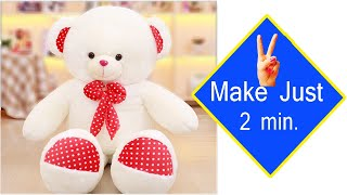 Teddy Bear Making With Bulb | Soft Toys Making At Home Simple | Teddy Bear Making | Lockdown Crafts