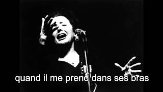 Edith Piaf / La vie en rose (1946) *With lyrics*