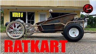 Rat Rod Go Kart Build Video 6, DIY Home-built  Rat Rod Go Kart Gas Tank.