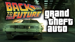 GTA 4: Back To The Future Mod! - (Funny Moments w/ Mods)