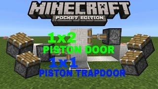 1x2 and 1x1 PISTON DOORS| Tutorial With JGB 777| Minecraft PE