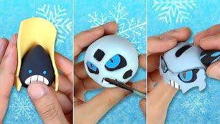 Pokémon Clay Art: Snorunt line!! Snorunt, Glalie, Mega Glalie Ice-type Pokémon!
