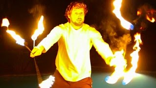 HE CAUGHT ON FIRE!!! w/ Scotty Sire, Toddy Smithy, Sam & Colby