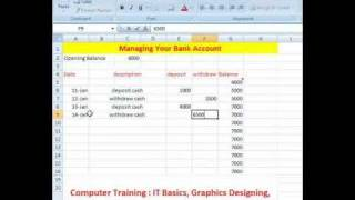 Managing your bank account using Microsoft Excel | Check Book Register