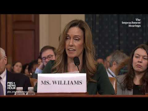 Download WATCH: Jennifer Williams' full opening statement | Trump impeachment hearings Mp4 HD Video and MP3