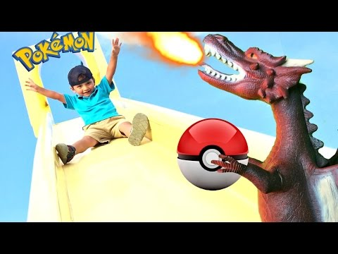 KIDS MOVIES POKEMON Dragon??? Children's Playground Park Fun Toys For Kids