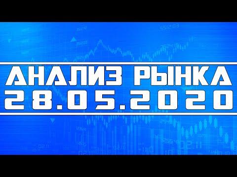 Анализ рынка 28.05.2020 + Технический анализ акций (спекуляции) видео
