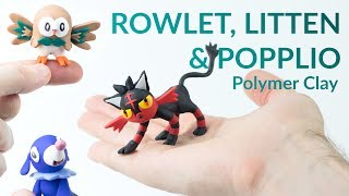 Rowlet  - (Pokémon) - Rowlet, Litten & Popplio (Pokemon Ultra Sun & Moon) – Polymer Clay Tutorial