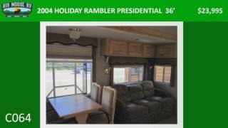 2004 HOLIDAY RAMBLER PRESIDENTIAL – 36′ – C064