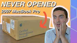 Unboxing A SEALED 17 Inch MacBook Pro From 2007!