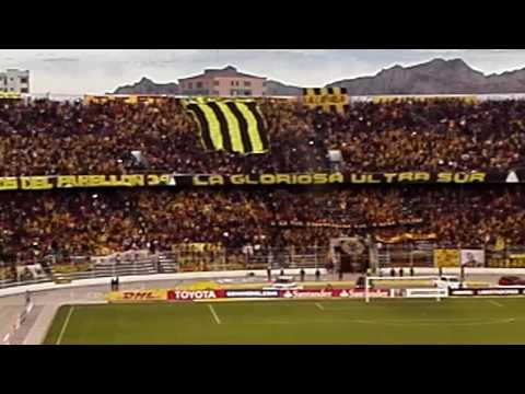 """Recibimiento Atigrado (The Strongest vs Lanus)"" Barra: La Gloriosa Ultra Sur 34 • Club: The Strongest"