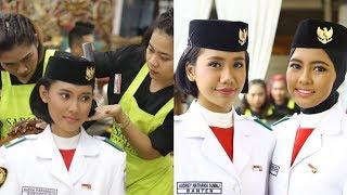 Ternyata Inilah Rahasia Cantik Para Wanita Pengibar Bendera Pusaka di Istana Negara