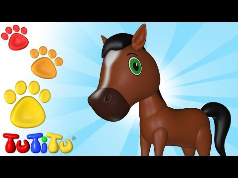 Caballo  - Aprende nombres de animales con TuTiTu