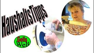 Haushaltstipps Bügeleisen entkalken, Messer, Brotkapsel