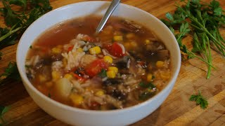 Leftover Rice Soup – Healthy Recipe Channel