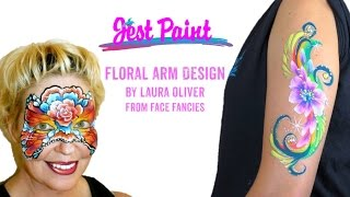 Floral Face Painting Arm Tutorial By Laura Oliver