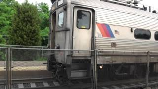preview picture of video 'NJT Arrow III Train Meets NJT PL42AC #4024 Deadheading At Morris Plains 6-18-2012'