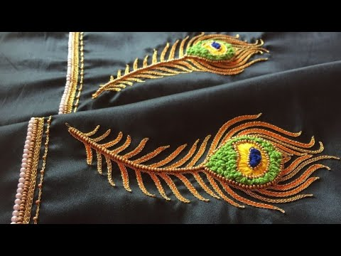 Blouse Design With Chain Stitch & French Knots |Aari Maggam Works |#65