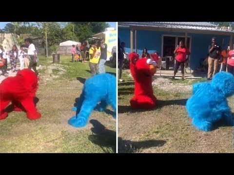 Sesame Street Characters Twerking At Party