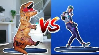 FORTNITE DANCE CHALLENGE as a DINOSAUR!