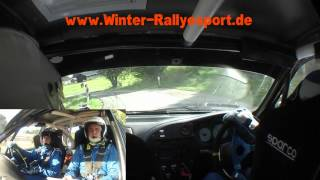 preview picture of video 'Onboard Rallye Grünhain 2012 WP5 Wiesenbad-Schönfeld - Winter/Beddies'