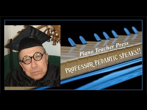 Dan as Professor I.M. Pedantic working as spokesperson for Piano Teacher Press