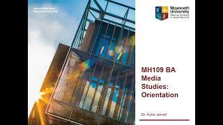 MH109 BA Media Studies